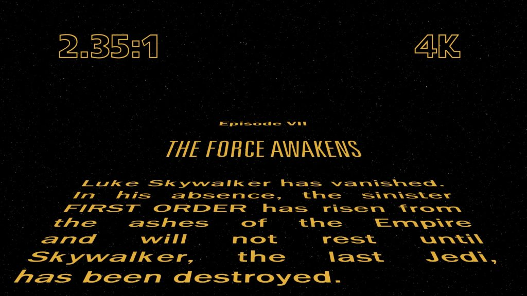 The Force Awakens Opening Crawl